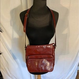 Faux leather red relic shoulder bag